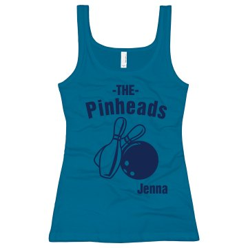 The Pinheads Junior Fit Bella Sheer Longer Length Rib Tank Top