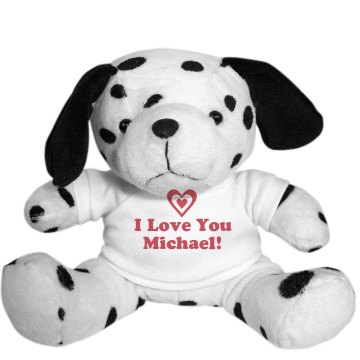 I Love You Valentine Plush Dalmatian Dog