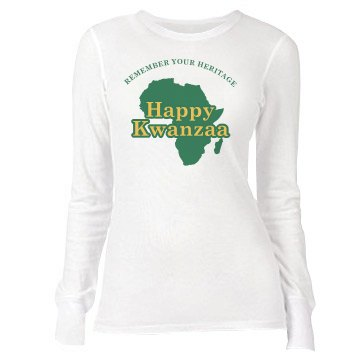Happy Kwanzaa Junior Fit Bella Long Sleeve Thermal Tee