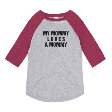 Mummy Loves A Girl Tee Youth Anvil Ringer Tee