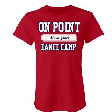 On Point Dance Camp Junior Fit Bella Crewneck Jersey Tee