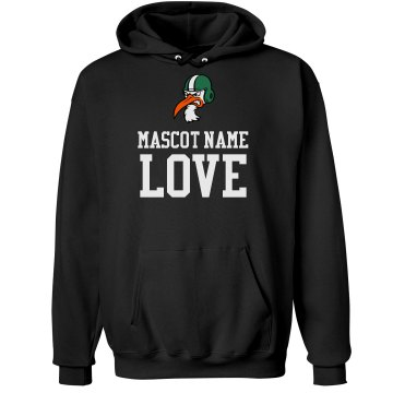 Hurricane Football Love Unisex Gildan Heavy Blend Hoodie