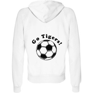 Soccer Mom Junior Fit Bella Fleece Raglan Zip Hoodie