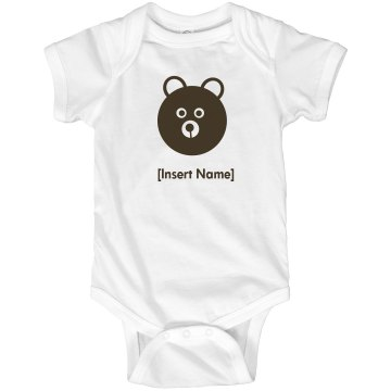 Personalized Bear Infant Gerber Onesies