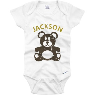 Distressed Teddy Onesie Infant Gerber Onesies