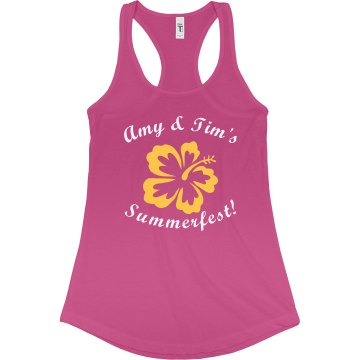 Summerfest Junior Fit Bella Sheer Longer Length Rib Racerback Tank Top