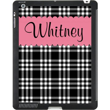 Pink Stripe Name Case Black iPad Smart Cover