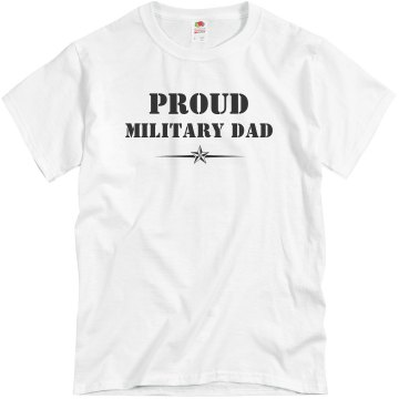 Proud Army Dad Unisex Basic Gildan Heavy Cotton Crew Neck Tee