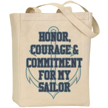 Sailor Anchor Tote Liberty Bags Canvas Tote
