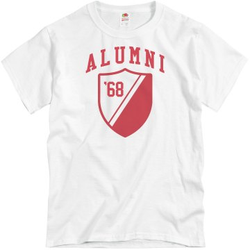 Alumni Year Shield Unisex Basic Gildan Heavy Cotton Crew Neck Tee