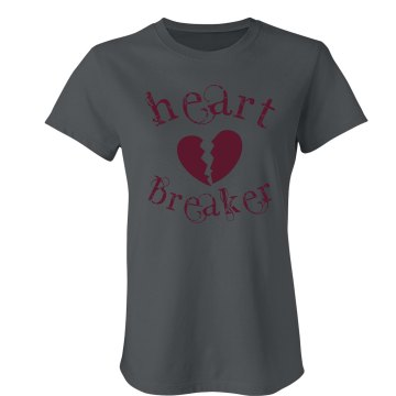Heart Breaker Junior Fit Bella Crewneck Jersey Tee