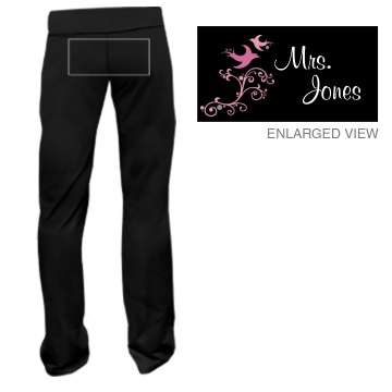 Mrs. Jones w/Back Junior Fit Bella Fitness Pants