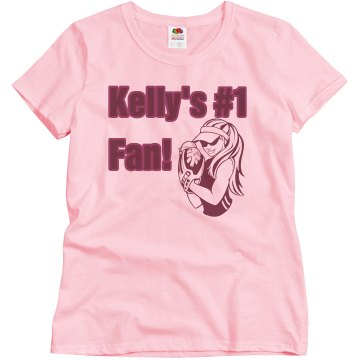Kelly's Number 1 Fan Misses Relaxed Fit Basic Gildan Ultra Cotton Tee