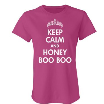 Keep Calm Honey Boo Boo Junior Fit Bella Crewneck Jersey Tee