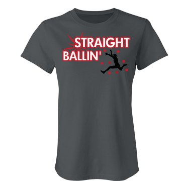 Staight Ballin&#x27; Junior Fit Bella Crewneck Jersey Tee