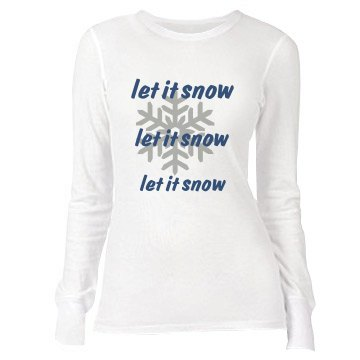 Let It Snow Junior Fit Bella Long Sleeve Thermal Tee