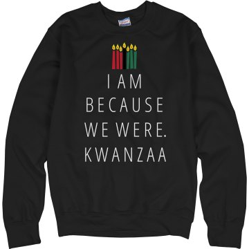 Kwanzaa Greetings Junior Fit Bella Crewneck Jersey Tee