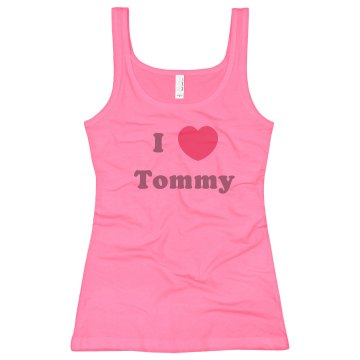 I Heart Tommy Junior Fit Bella Sheer Longer Length Rib Tank Top