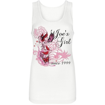 His Girl Since Junior Fit Bella Longer Length 1x1 Rib Tank Top