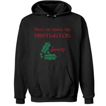 Meet Me Under Mistletoe Unisex Hanes Ultimate Cotton Heavyweight Hoodie