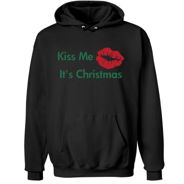 Kiss Me Christmas Unisex Hanes Ultimate Cotton Heavyweight Hoodie