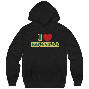 I Love Kwanzaa Unisex Hanes Ultimate Cotton Heavyweight Hoodie