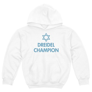 Dreidel Champ Hanakkah Youth Gildan Heavy Blend Hoodie