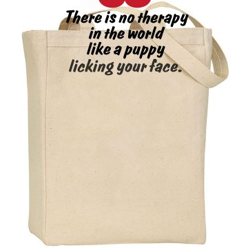 Puppy Therapy Liberty Bags Canvas Tote