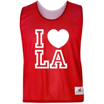 I Heart LA Pinnie Badger Sport Lacrosse Reversible Practice Pinnie