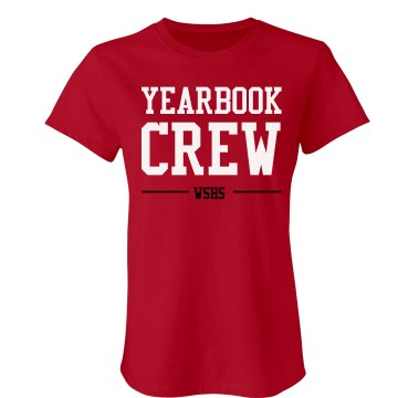 Yearbook Crew Junior Fit Bella Sheer Longer Length Rib Tee