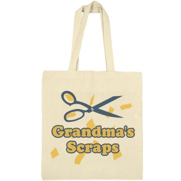 Grandma's Scraps Liberty Bags Canvas Bargain Tote Bag