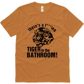 Bathroom Tiger Bachelor Unisex Canvas Jersey Tee