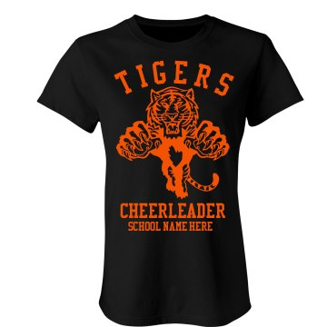 Tigers Cheerleader Junior Fit Bella Sheer Longer Length Rib Tee