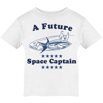 Future Baby Space Captain Infant Bella Baby Long Sleeve Lap Shoulder Tee