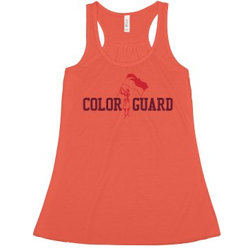 Color Guard Crop Misses Bella Flowy Boxy Lightweight Crop Tank