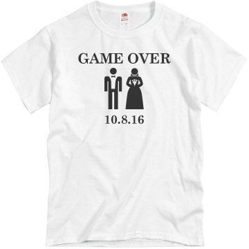 Game Over Groom Unisex Basic Gildan Heavy Cotton Crew Neck Tee