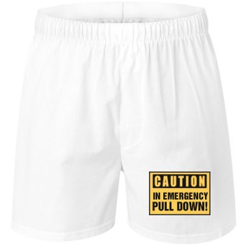 In Emergency Pull Down Unisex Robinson Boxer Shorts
