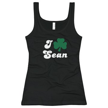 I Shamrock Sean Junior Fit Bella Longer Length 1x1 Rib Tank Top