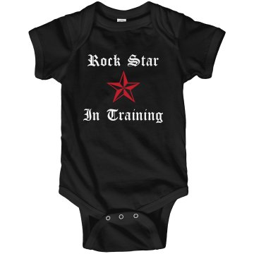 Young Rock Star Training Infant Rabbit Skins Lap Shoulder Creeper