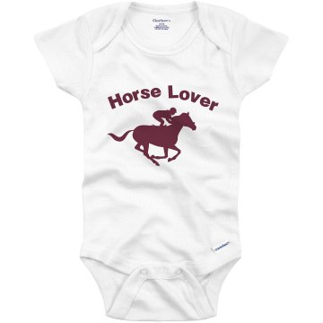 Little Horse Lover Infant Bella Baby Long Sleeve Thermal Creeper