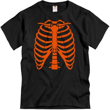 Adult Rib Cage Halloween Unisex Gildan Heavy Cotton Crew Neck Tee