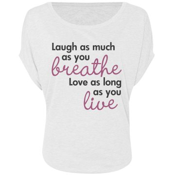 Laugh Breathe Love Live Misses Bella Flowy Draped Sleeve Dolman