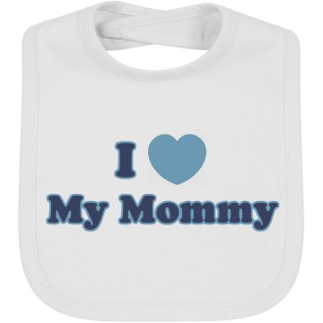 I Heart Mommy Infant Bella Baby 1x1 Rib Reversible Bib