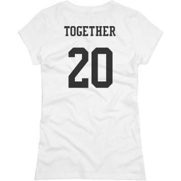 Together Since Couple Tee Junior Fit Basic Bella Favorite Tee