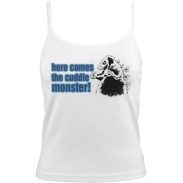 Cuddle Monster Bella Junior Fit Contrast Satin Trim Cami