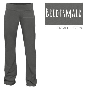 Bridesmaid Yoga Pant Junior Fit Bella Fitness Pants