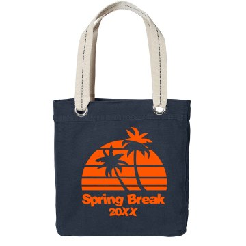 Spring Break Bag Port Authority Color Canvas Tote