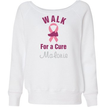 Rhinesone Walk Sweatshirt Junior Fit Bella Triblend Slouchy Wideneck Sweatshirt