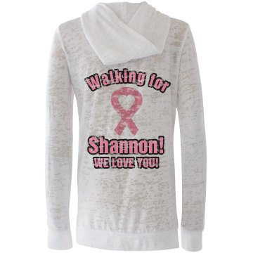 Breast Cancer Walk Alo Women's Long Sleeve 1/2 Zip Hoodie