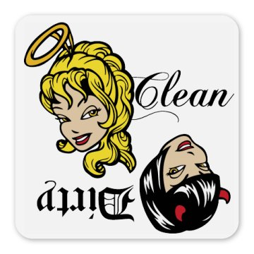 Clean Dirty Dishes Magnet Square Magnet